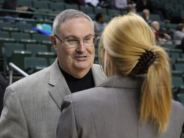 Storm Head Coach Bob Booher won his 200th career game Jan. 19 against Lake Superior State.