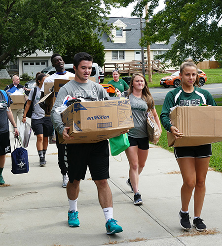 Sage student-athletes participate in annual Shoe Box Project!