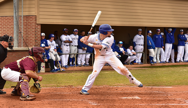 Lions even season series with 15-4 win over SWU
