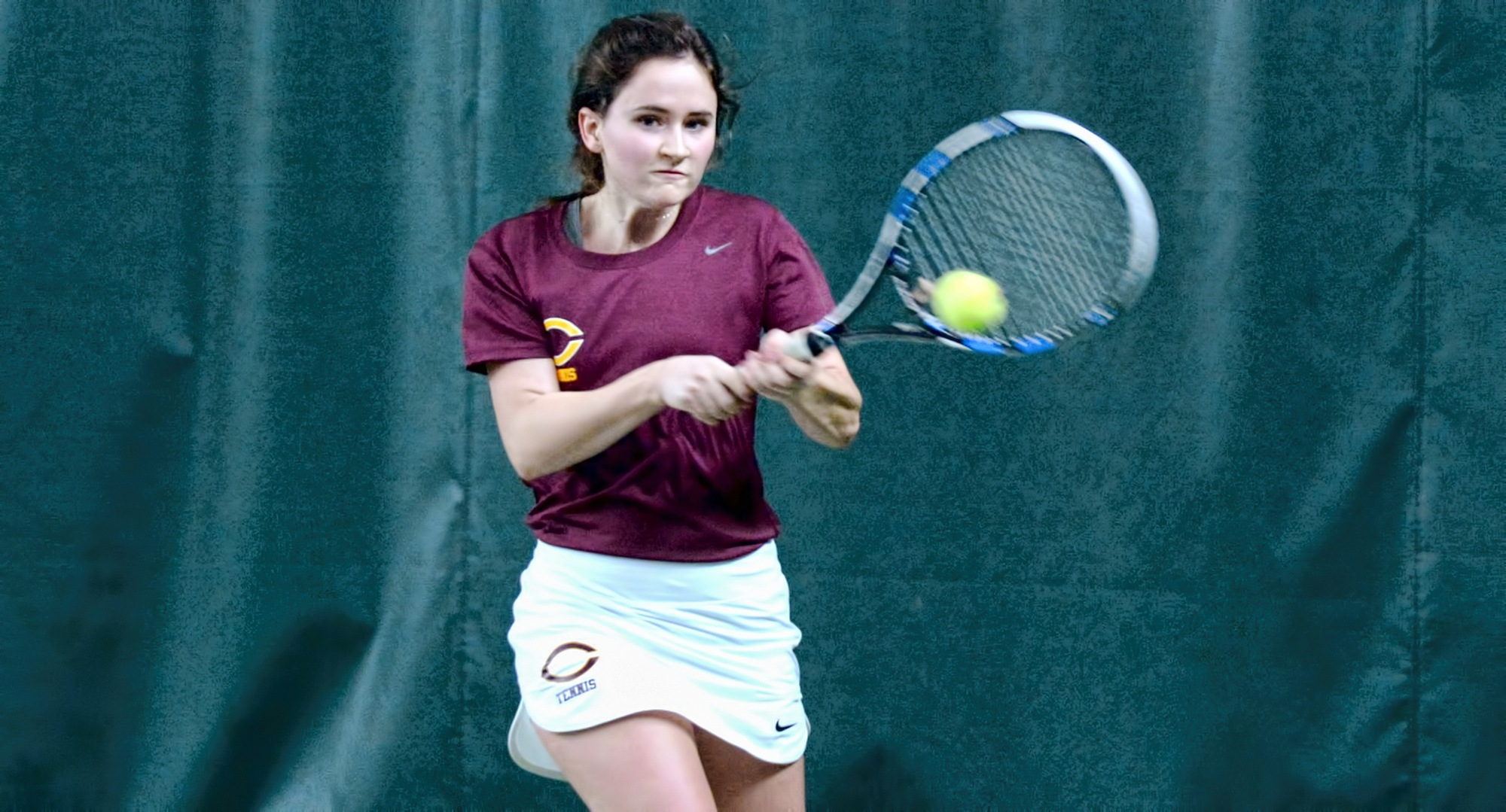 Freshman Ivy Mattson won games in both her sets against NCAA Division II opponent St. Cloud State.