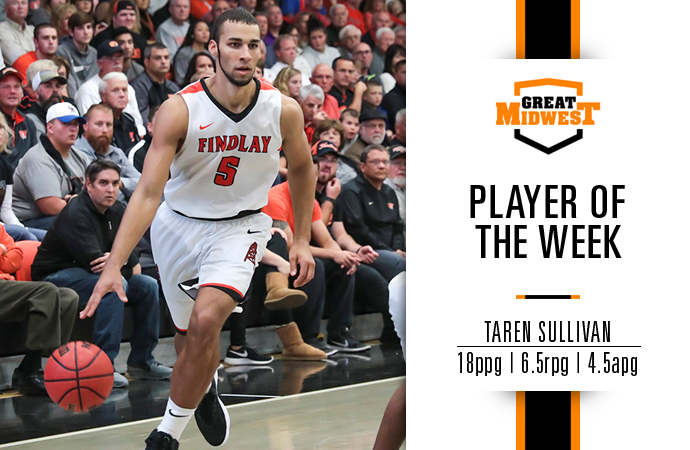 Sullivan Named Great Midwest Player of the Week