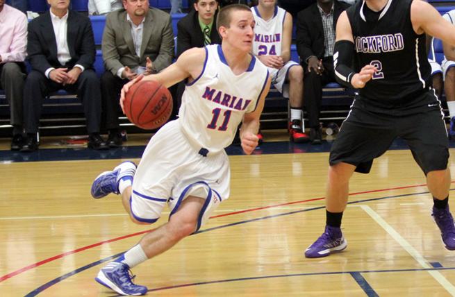 Men's Basketball Downs Rockford in NAC Win at Home