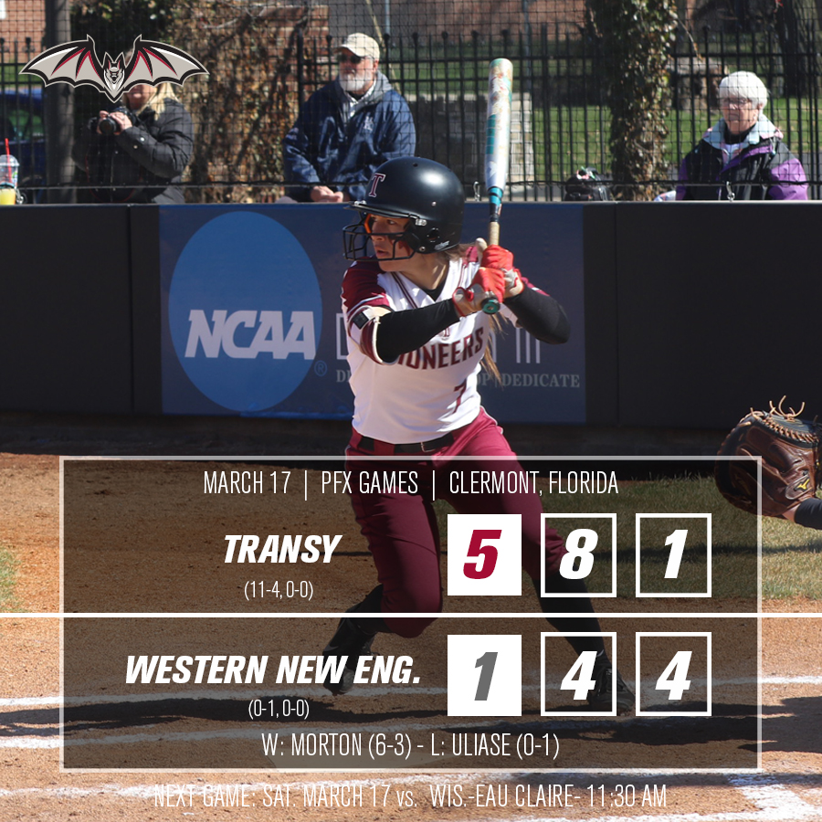 Transy defeats Western New England 5-1