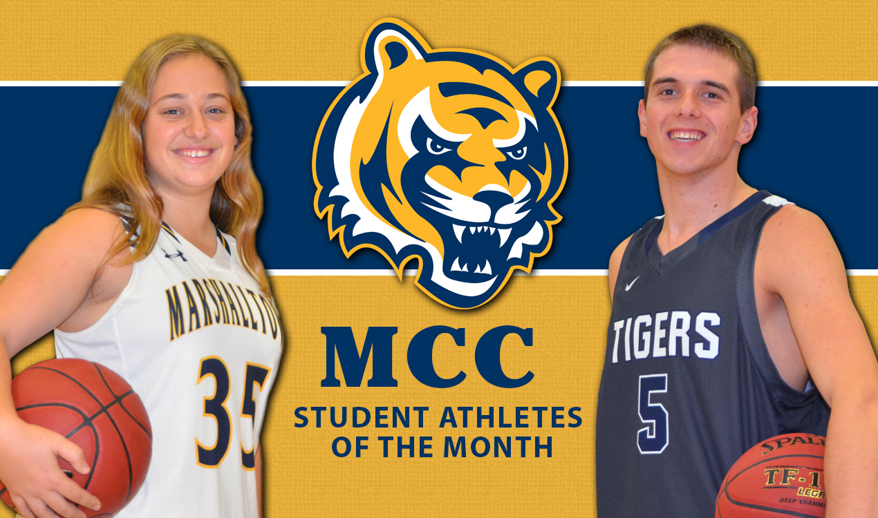 Solsona and Vidovic Student-Athletes of the Month