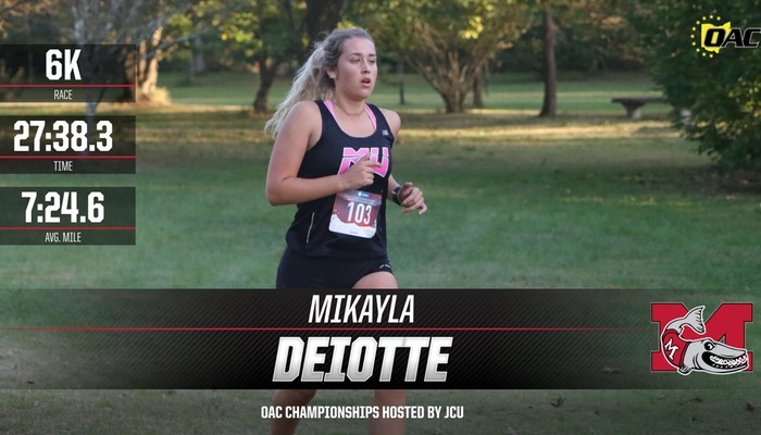Women's Cross Country competes in the OAC Championships