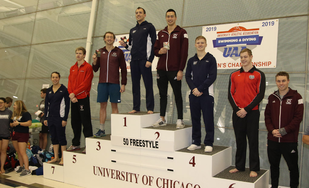 Men's Swimming & Diving Win Three Events on Thursday to Build UAA Lead