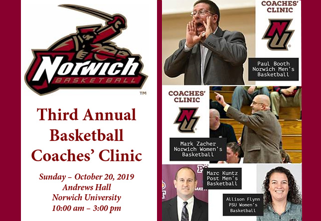 Basketball: 3rd Annual Basketball Coaches' Clinic Set for October 20th