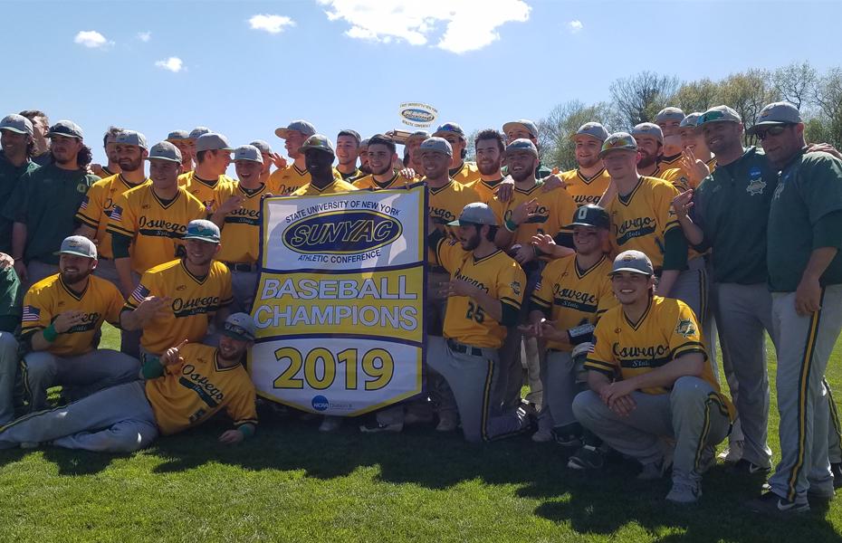 Oswego baseball wins third straight SUNYAC championship