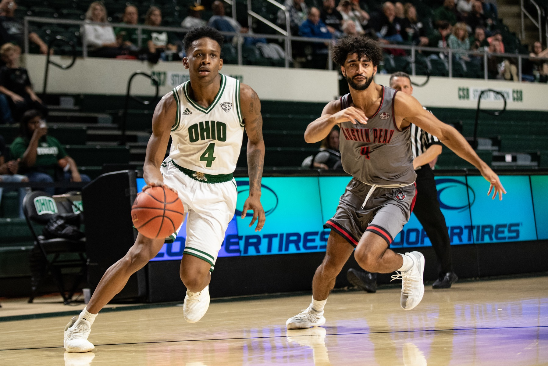 Carter, Kirk Lead Ohio Men's Basketball Past Austin Peay, 85-82, in Overtime