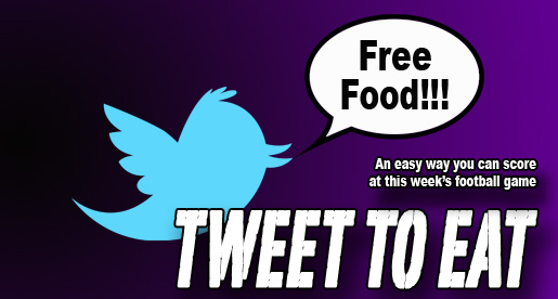 Get free food for tweeting us your gameday pictures