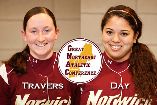 Softball: Travers, Day tabbed to GNAC All-Conference squads