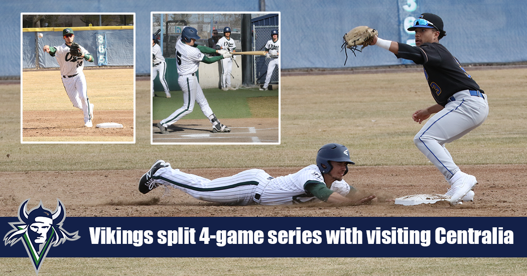 Big Bend Baseball splits weekend series with Centralia, 2-2.