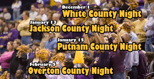 White County Night Wednesday the first of four county nights in Eblen Center