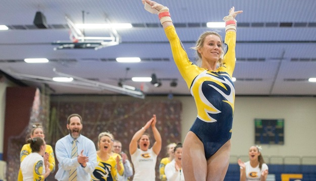 Gymnastics wins Blugold Invite