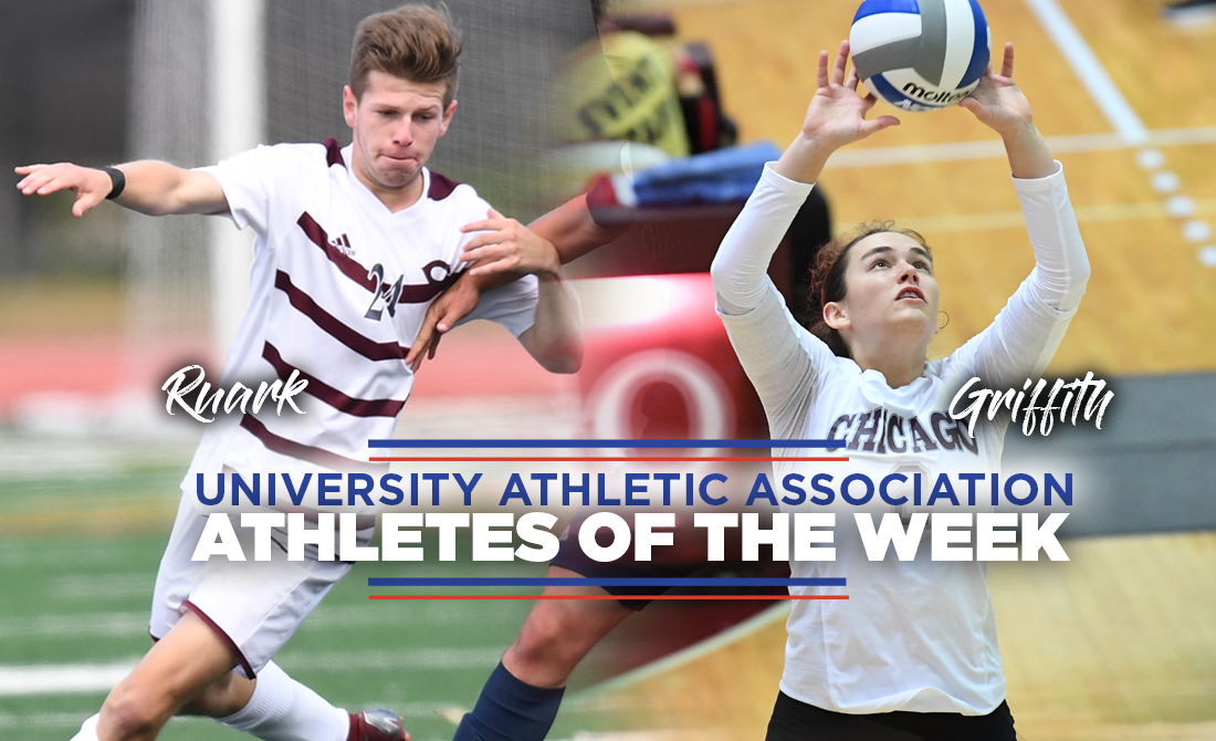 Griffith and Ruark Picked as UAA Athletes of the Week