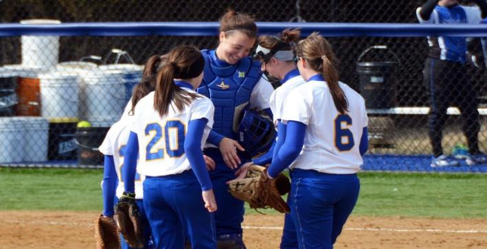 Softball rolls to a pair of wins over Maranatha Baptist Bible