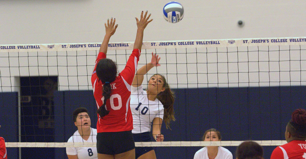 Women's Volleyball Cruises to First Win of Season Sweeping York in Home Opener
