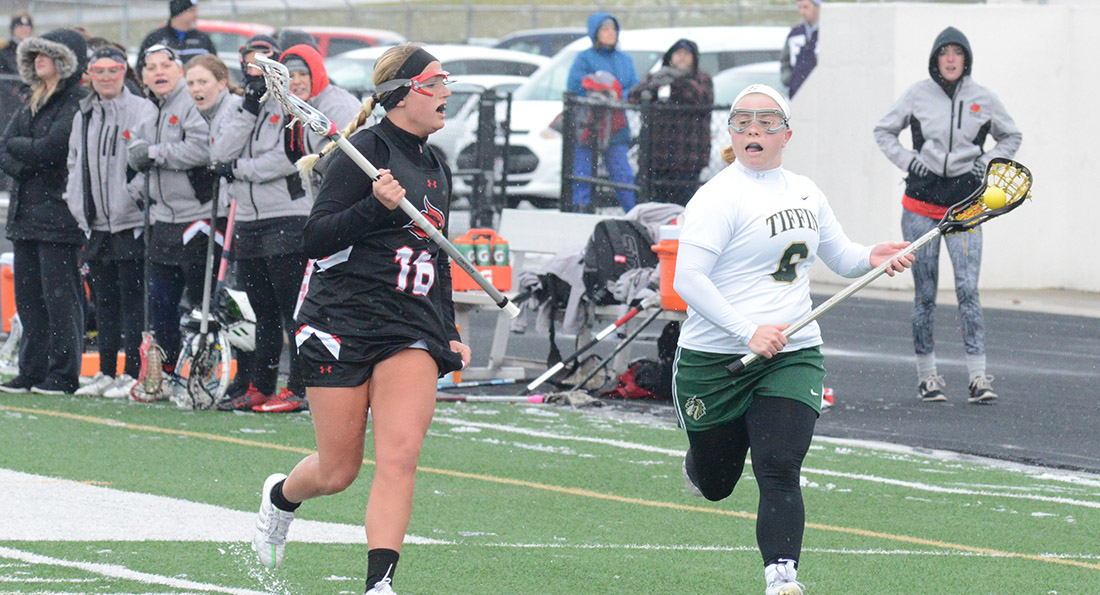 Amanda Flotteron scored 3 goals in Tiffin's loss to the Lakers.