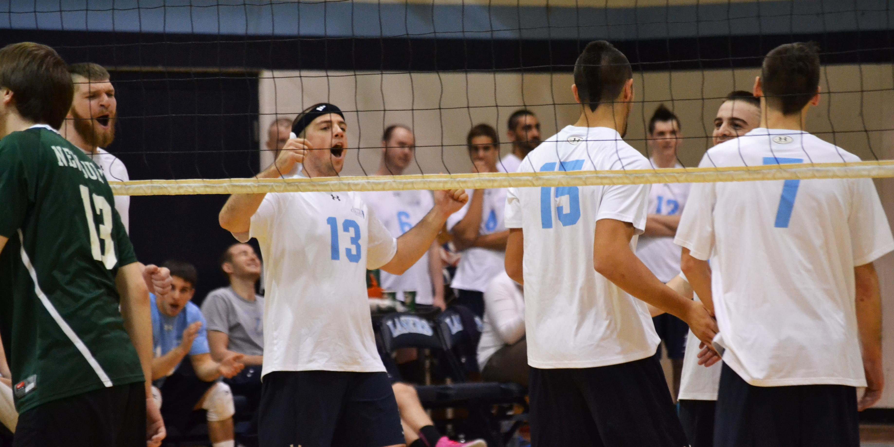 Men's Volleyball Takes 3-0 Victory Over Newbury in NH Invite