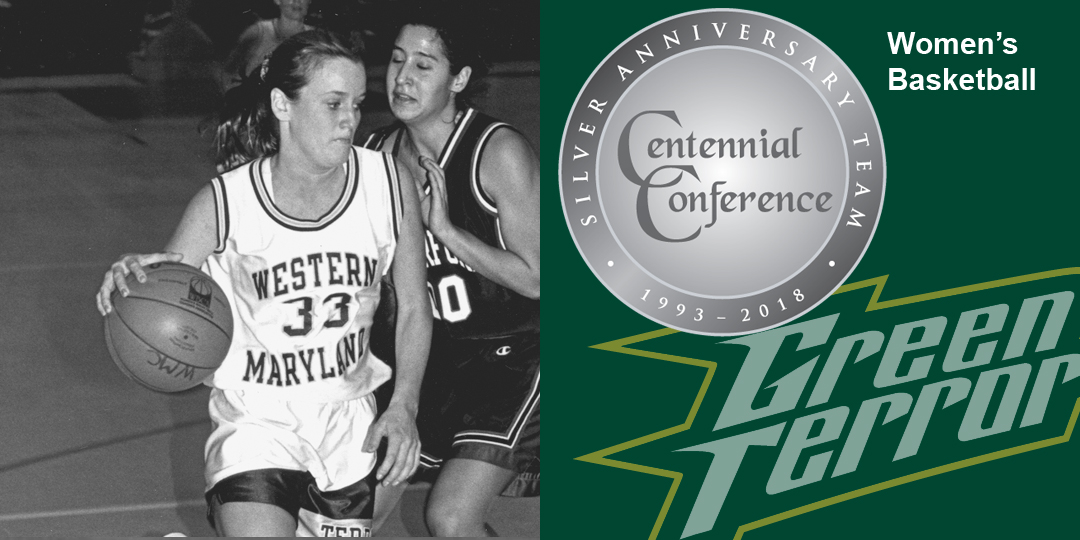 Katie Haley makes the Centennial Conference Silver Anniversary Team for women's basketball.