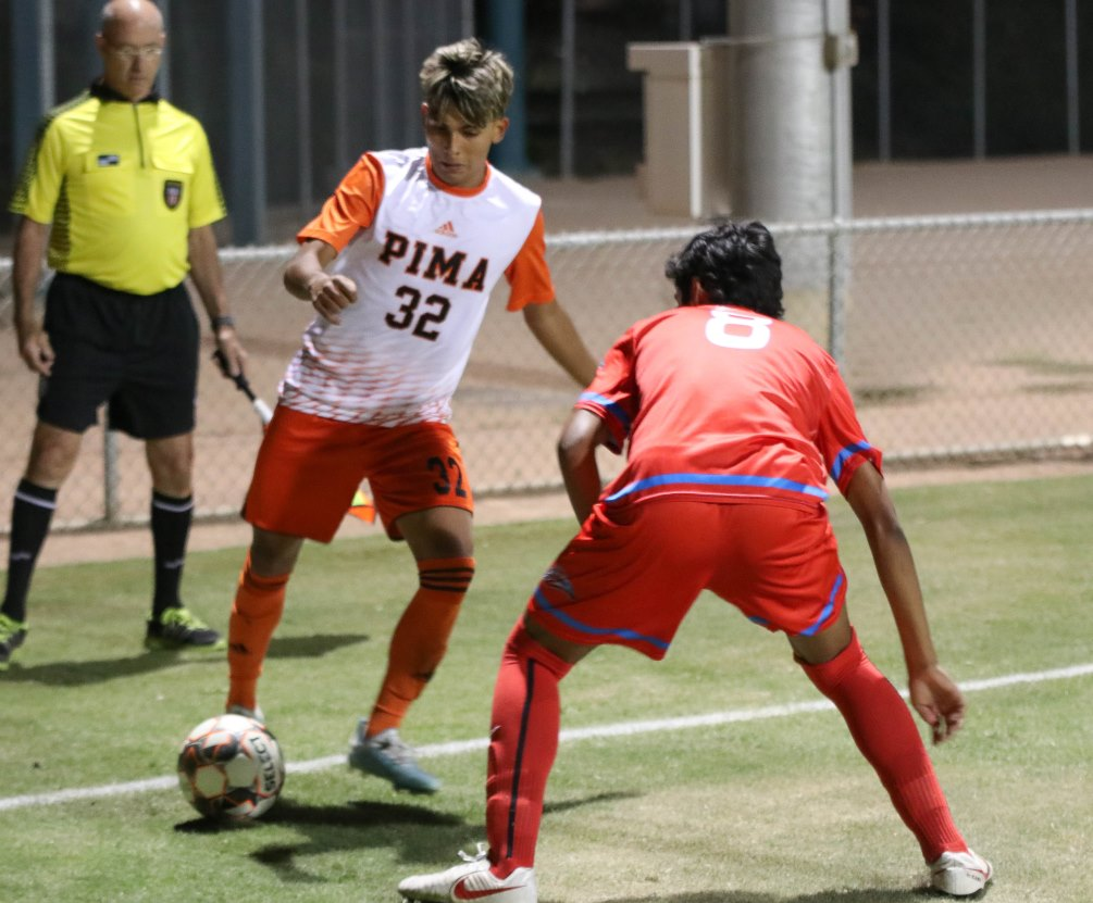 Sophomore Ricky Gordillo scored a goal and had four assists as the No. 8 ranked Aztecs men's soccer team beat Scottsdale Community College 5-1 on Thursday. The Aztecs improved to 11-2-1 overall and 7-1 in ACCAC conference play. Photo by Stephanie Van Latum