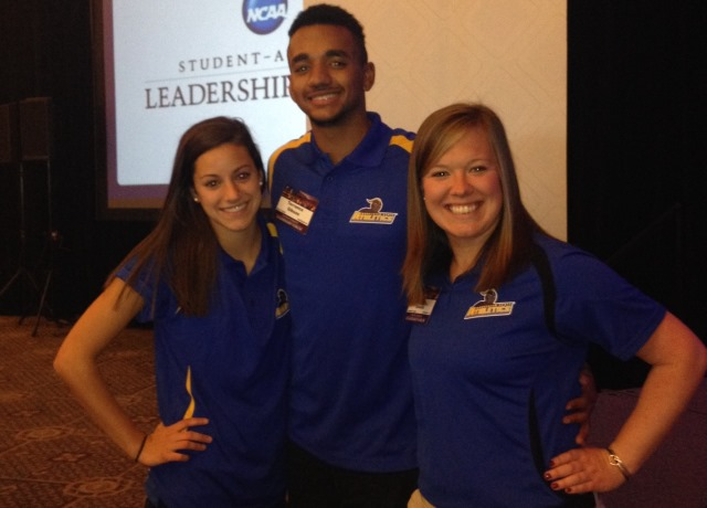"WSULancers.com: ""Gibson, Grassetti Take Life's Leadership Lessons At NCAA Forum"""