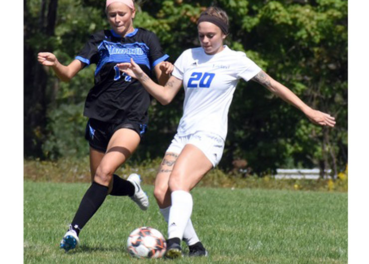 Maria Sill scores twice but Lakeland ties with Ancilla, 2-2