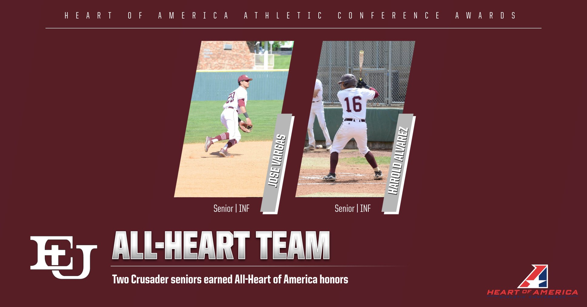 Vargas and Alvarez Earn All-Heart Honors