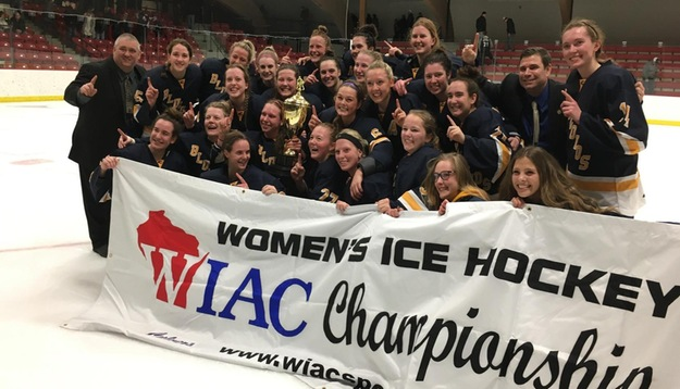Women's Hockey wins WIAC Tournament with 7-3 win over UW-River Falls
