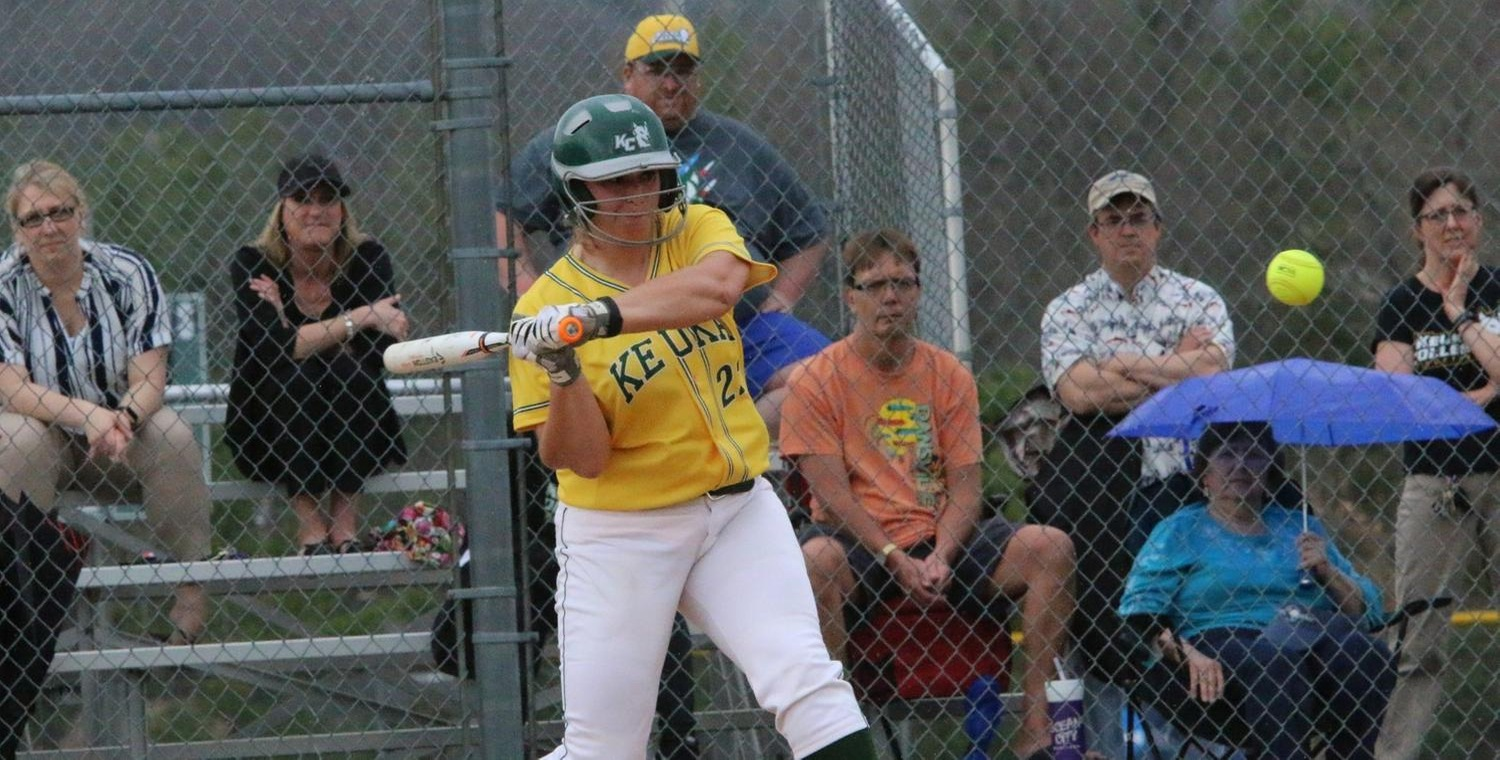 Katelyn Warren (22) finished her career with 130 hits for Keuka College