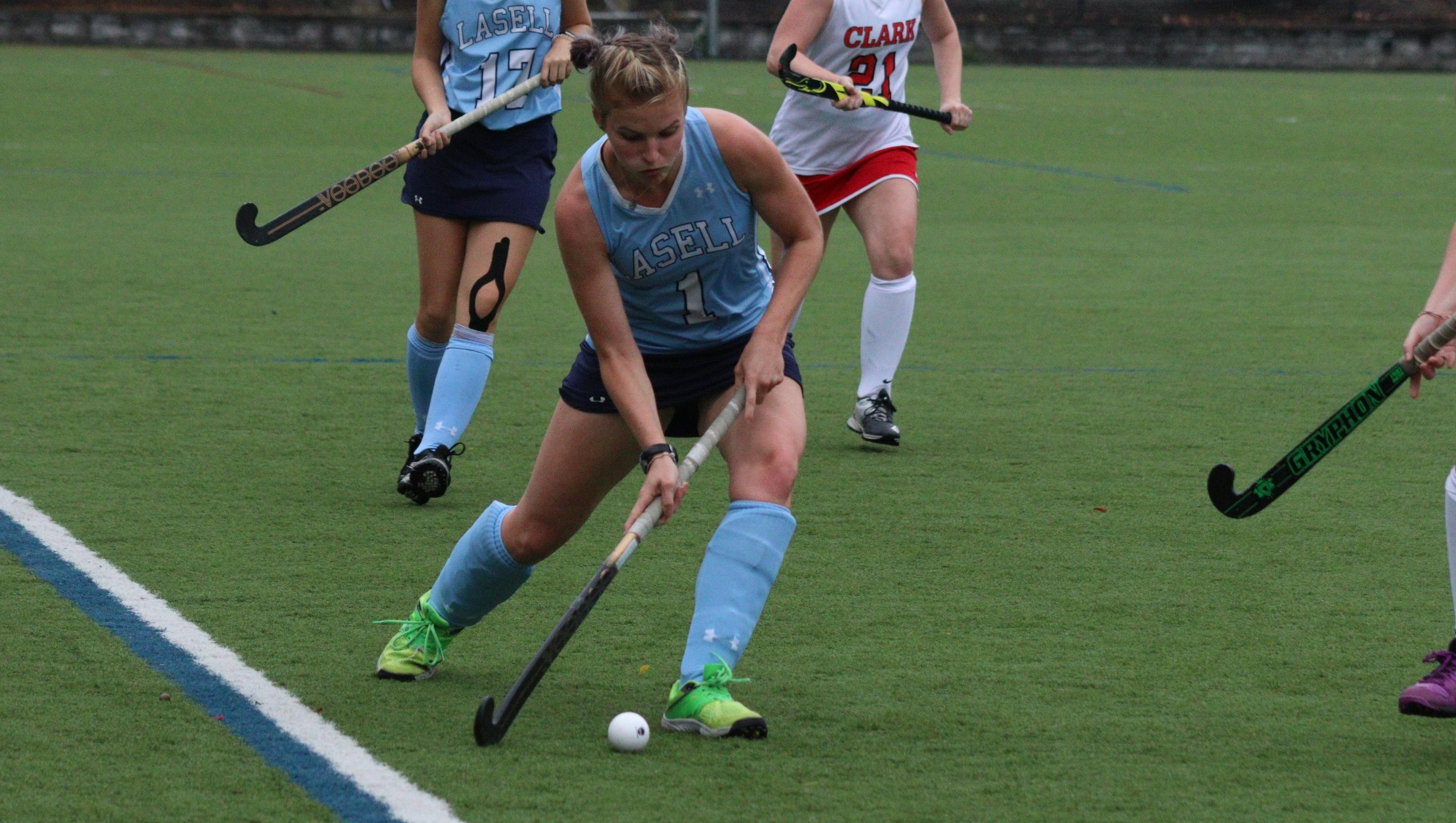 Lasell Field Hockey powers past Becker for first win of season