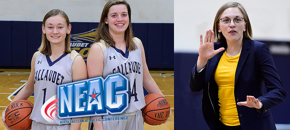 GU All-NEAC honorees from left to right: Sabina Shysh, Hannah Neild and Stephanie Stevens