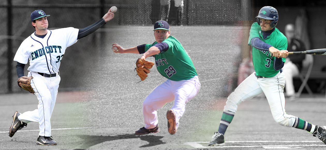 Gold, Branch, and Morse Sweep CCC Baseball Weekly Awards after Title Run