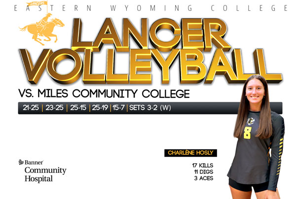 Eastern Wyoming College Lancer Volleyball Team vs. Miles City Community College