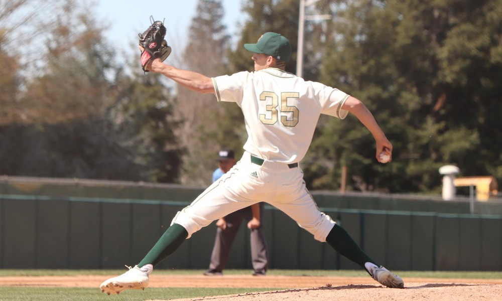 RANDALL THROWS GEM AS BASEBALL WINS EIGHTH STRAIGHT, 7-0, OVER RIDER