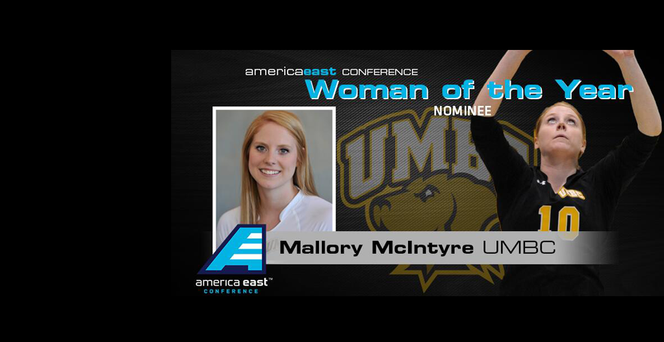 Volleyball's Mallory McIntyre Nominated for America East Woman of the Year Award