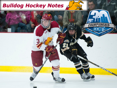 Weekly Notes-CCHA Tournament Quarterfinals: Ferris State at #15 Western Michigan