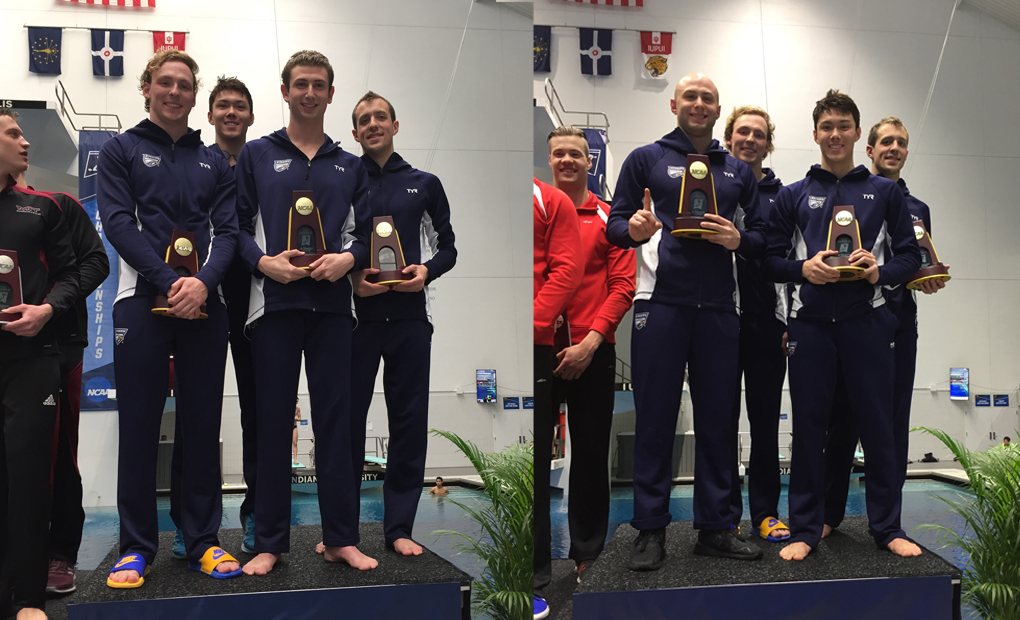 Emory Men's Swimming & Diving Sweep Relay National Titles on Day Two of NCAA Championships