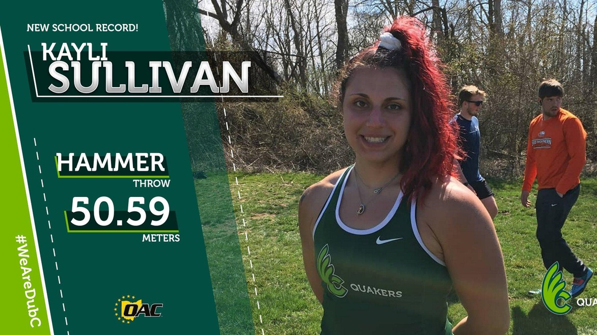 Sullivan Breaks School Record in Hammer Throw for Women's Track & Field at Otterbein