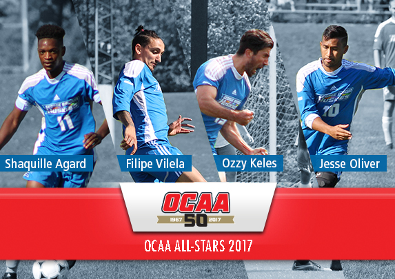 AGARD, KELES, OLIVER AND VILELA ALL NAMED TO 2017 OCAA SOCCER ALL-STAR TEAM