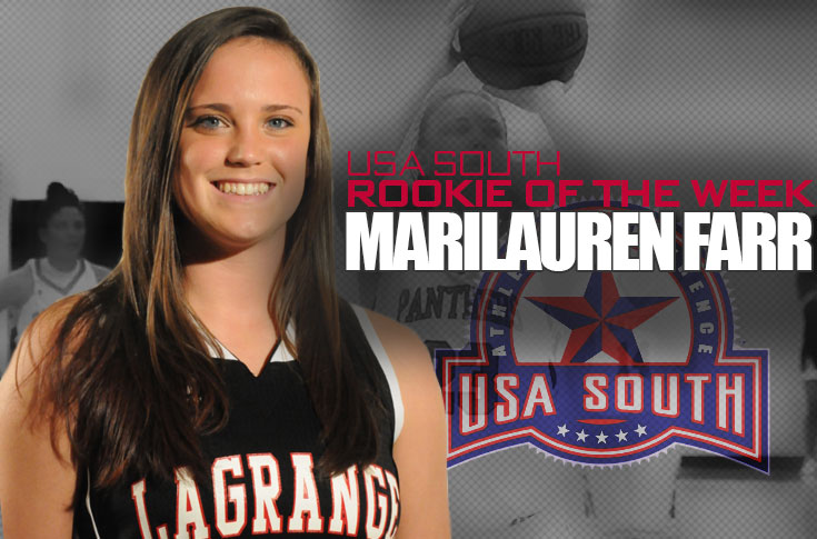 Women's Basketball: Marilauren Farr named USA South Rookie of the Week for second straight week