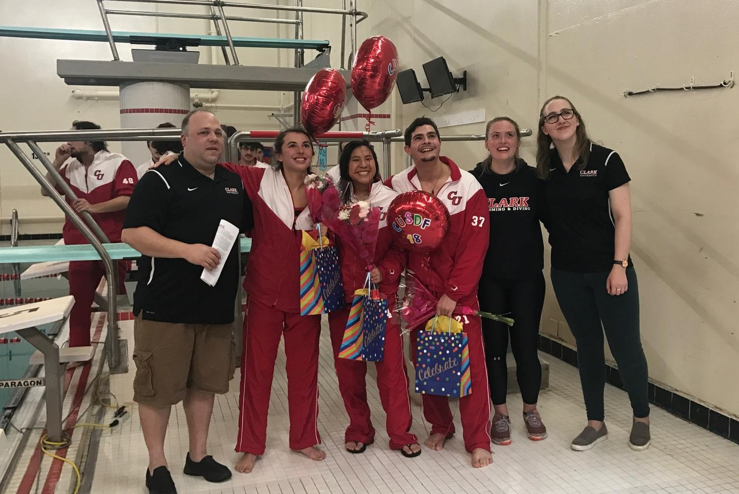 Swimming and Diving hosts Cougar Invitational on Senior Day