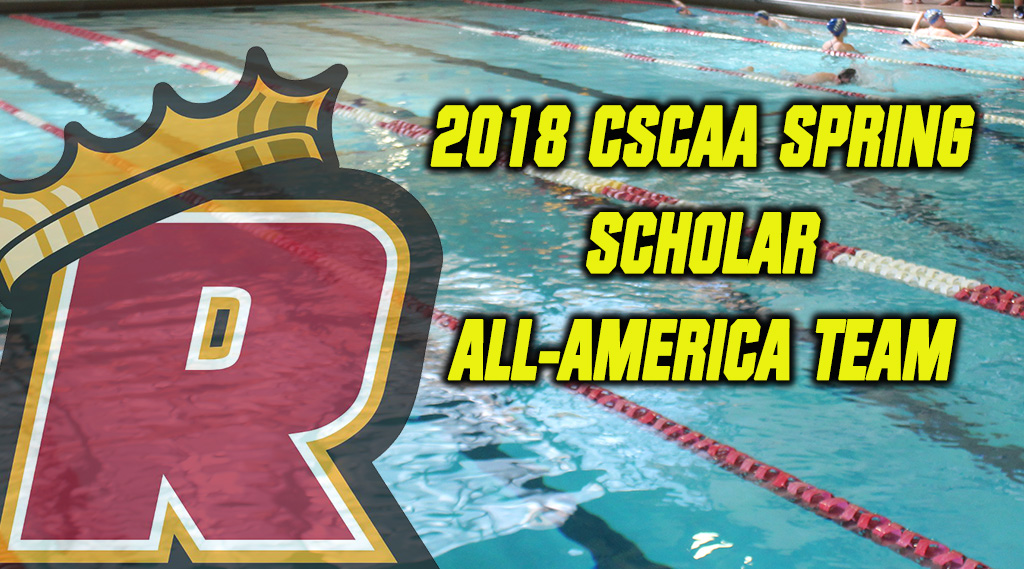 Swimming & Diving Earns CSCAA Spring Academic All-America Honors