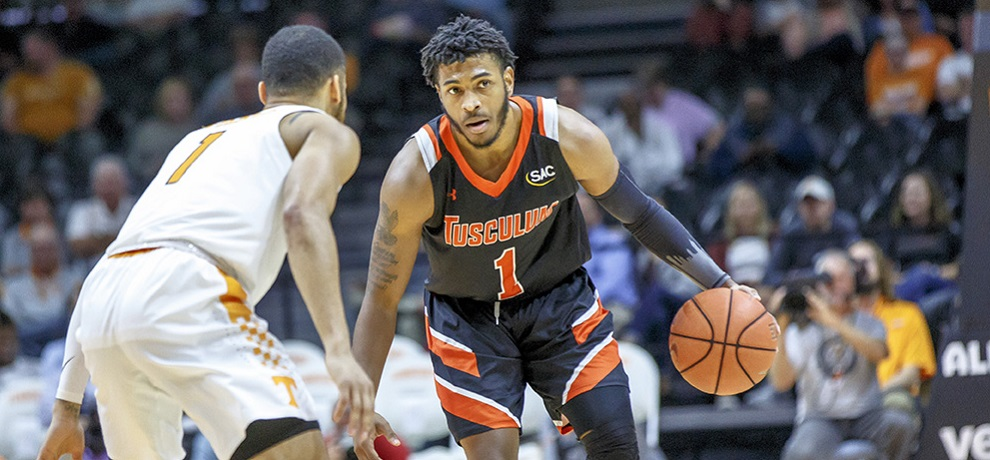 Tusculum men fall 97-88 at No. 11/10 Queens