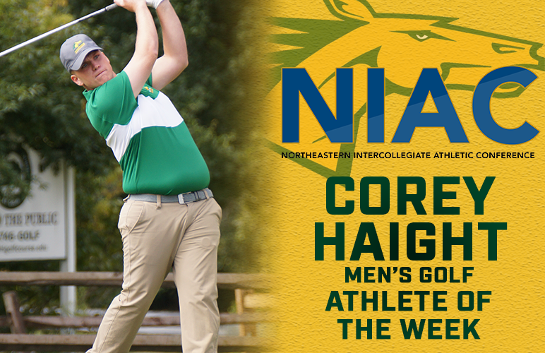 Corey Haight Accorded NIAC Male Athlete of the Week