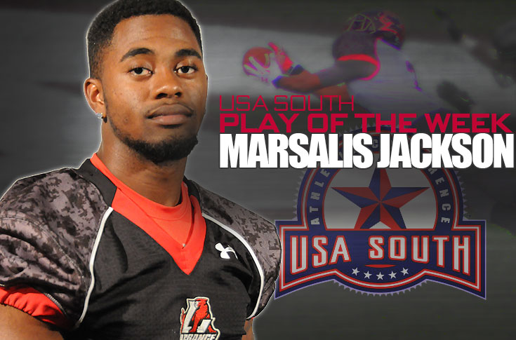 Football: Jackson's diving catch voted as USA South Play of the Week