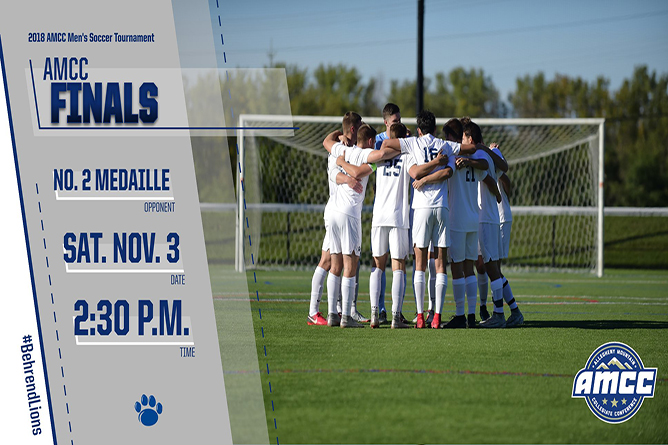 Men's Soccer Faces Medaille in AMCC Championship Saturday