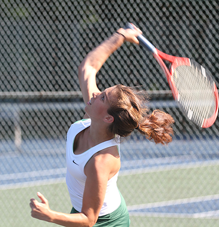 Ackerman and Hansen take singles matches against MCLA, but it's not enough as Gators fall, 7-2