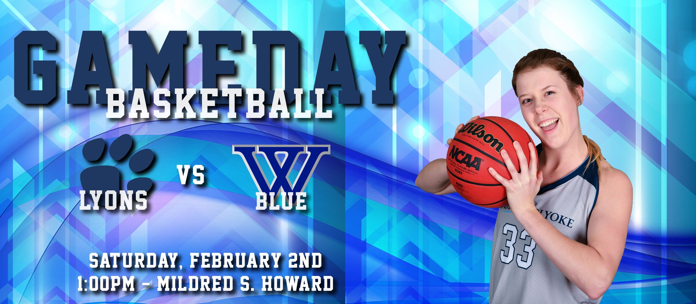 Gameday Central graphic for game against Wellesley.