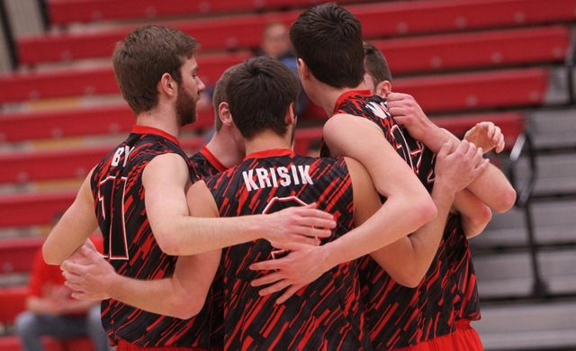 Men's Volleyball Sweeps North Central For First 2017 Win